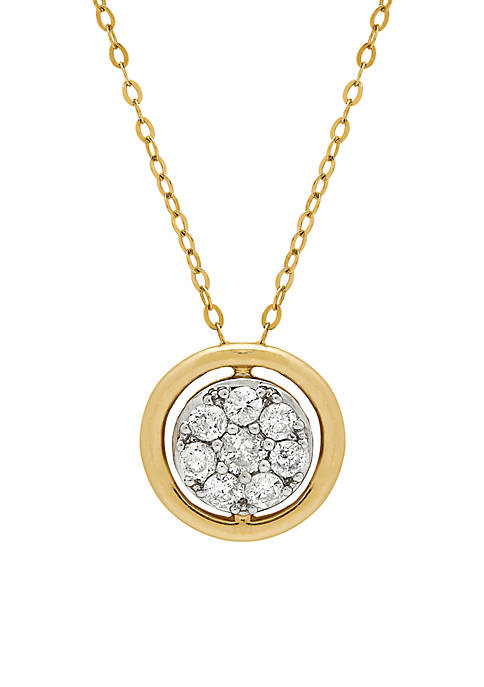 Belk & Co. 10k Yellow Gold Diamond Circle