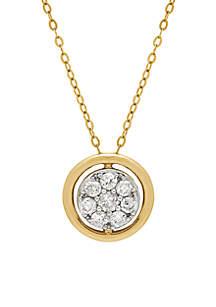 Belk & Co. 10k Yellow Gold Diamond Circle Pendant Necklace
