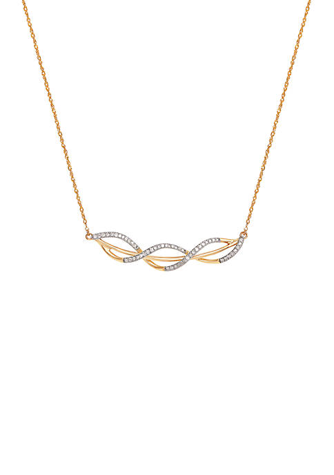 1/6 ct. t.w. Diamond Necklace in 10k Yellow Gold
