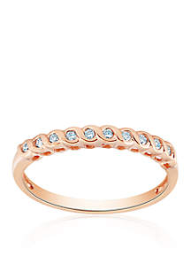 1/10 ct. t.w. Diamond Band in 10k Rose Gold
