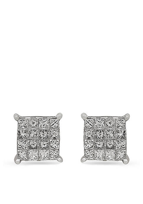 Belk & Co. Diamond Cluster Earrings in 10k