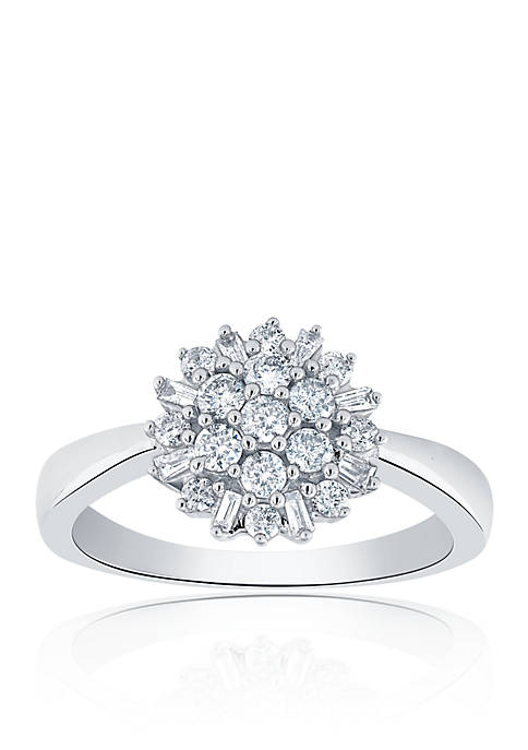 0.50 ct. t.w. Diamond Cluster Ring in 10K White Gold