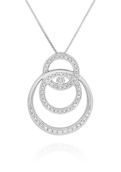 Belk & Co. Diamond Circle Pendant in 10K