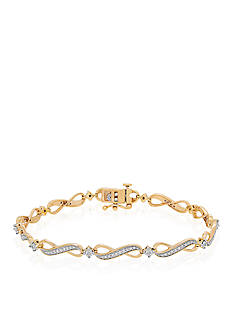Belk & Co. 0.25 ct. t.w. Diamond Bracelet in 10K Yellow Gold