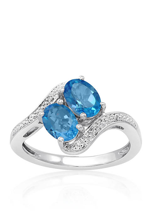 Belk & Co. Topaz and Diamond Ring in