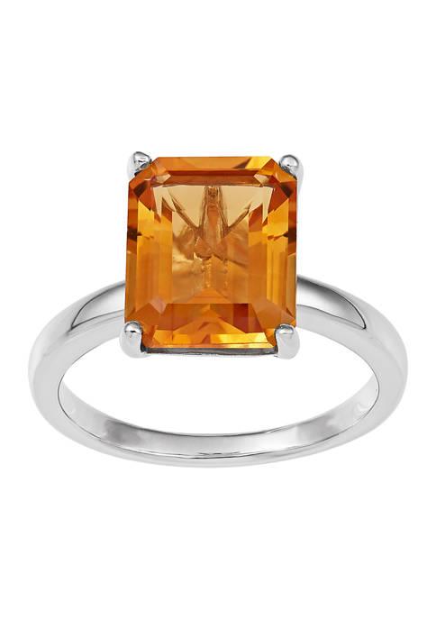Belk & Co. Citrine Ring in Sterling Silver
