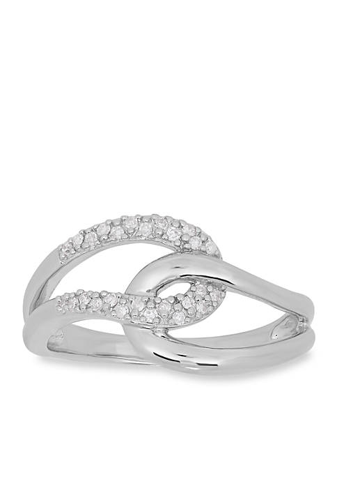 Belk & Co. Diamond Loop Ring in Sterling