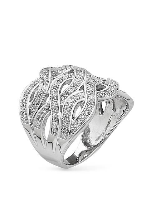 Belk & Co. Sterling Silver Diamond Band Ring