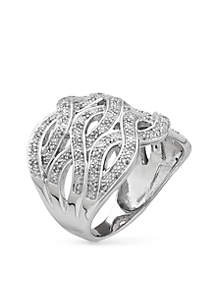 Sterling Silver Diamond Band Ring