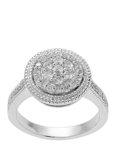 1/2 ct. t.w. Diamond Ring in Sterling Silver