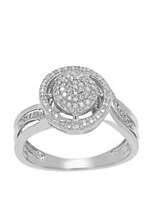 1/4 ct. t.w. Diamond Ring in Sterling Silver