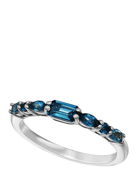 3/4 ct. t.w. Swiss Blue Topaz Ring in Sterling Silver