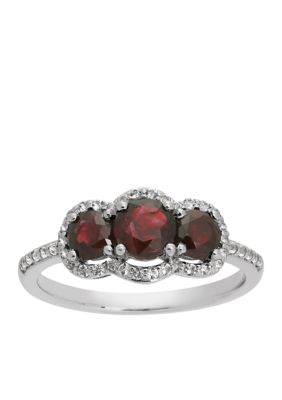 Gorgeous Oval Jewelry Ruby & White Topaz Gemstone Silver Ring Size 10 Women Gift