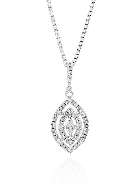 Belk & Co. Diamond Marquise Pendant Necklace in