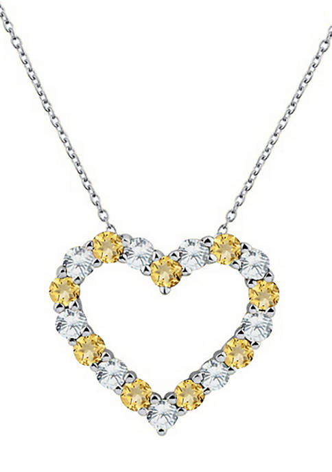 Belk & Co. Created Citrine and White Sapphire