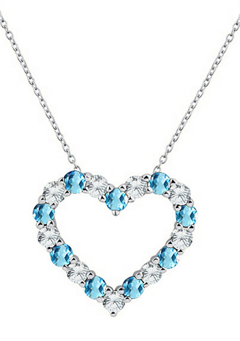 Belk & Co. Created Blue Topaz Heart Pendant