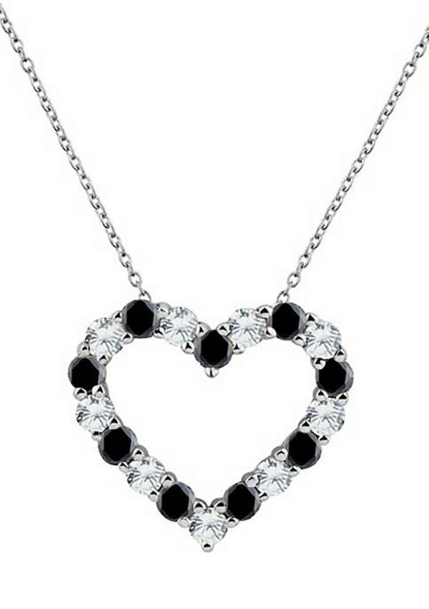 Belk & Co. Onyx Heart Pendant Necklace in