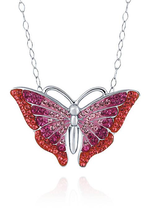 Belk & Co. Crystal Butterfly Pendant Necklace in
