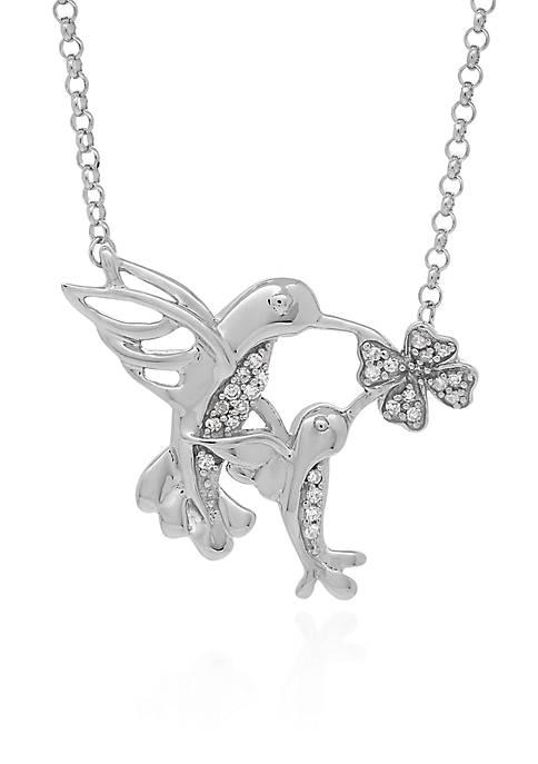 Belk & Co. .103 ct. t.w. Diamond Hummingbird