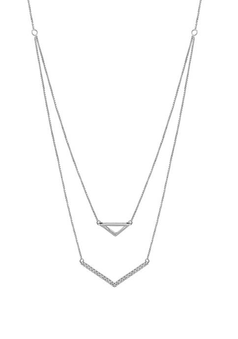 1/10 ct. t.w. Diamond Necklace in Sterling Silver