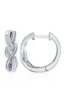 0.26 ct. t.w. Diamond Swirl Hoop Earrings in Sterling Silver