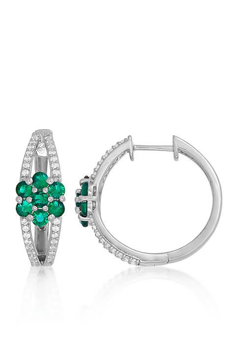 Belk & Co. Created Emerald & Created White
