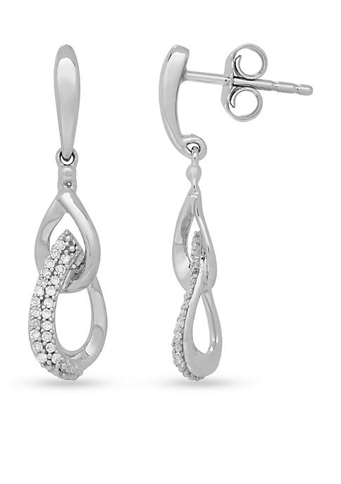 Belk & Co. Diamond Double Teardrop Earrings in