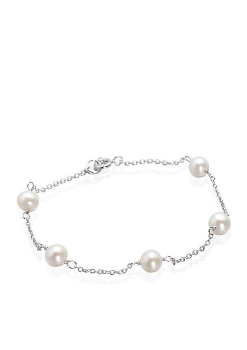 Belk & Co. Freshwater Pearl Bracelet in Sterling