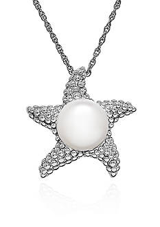 Belk & Co. Freshwater Pearl Starfish Pendant Necklace in Sterling Silver