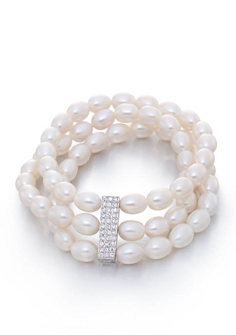 Belk & Co. Freshwater Pearl and Cubic Zirconia