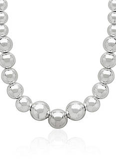 Belk & Co. Sterling Silver Graduated Bead Necklace