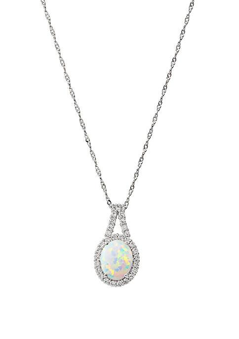 Belk & Co. Created Opal & Created White