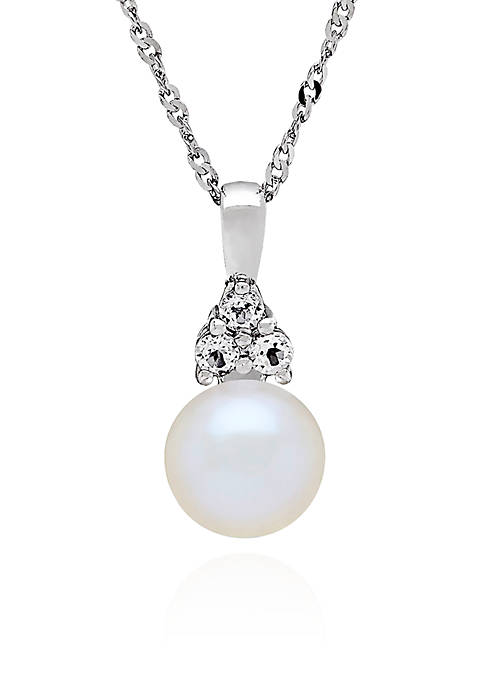 Belk & Co. Freshwater Pearl and White Topaz