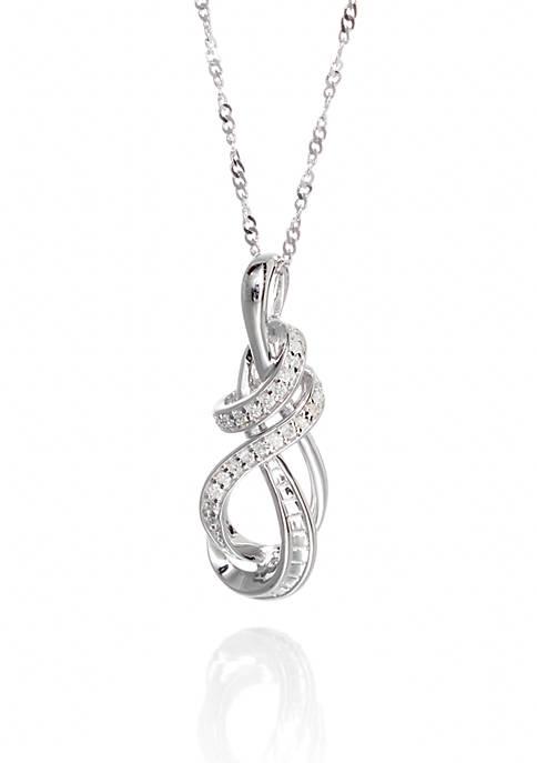 0.10 ct. t.w. Diamond Swirl Pendant in Sterling Silver