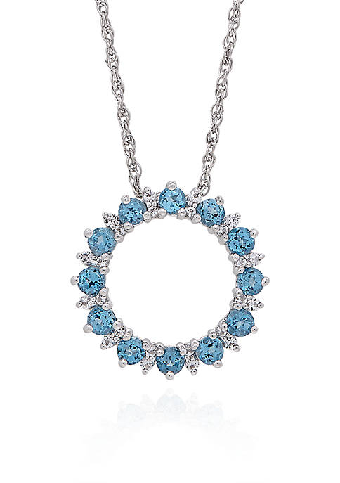 Belk & Co. Blue & White Topaz Open