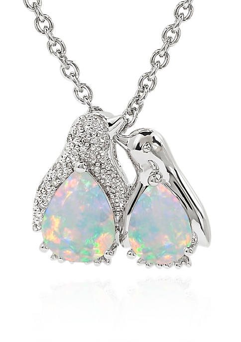 Belk & Co. Created Opal and Diamond Penguin