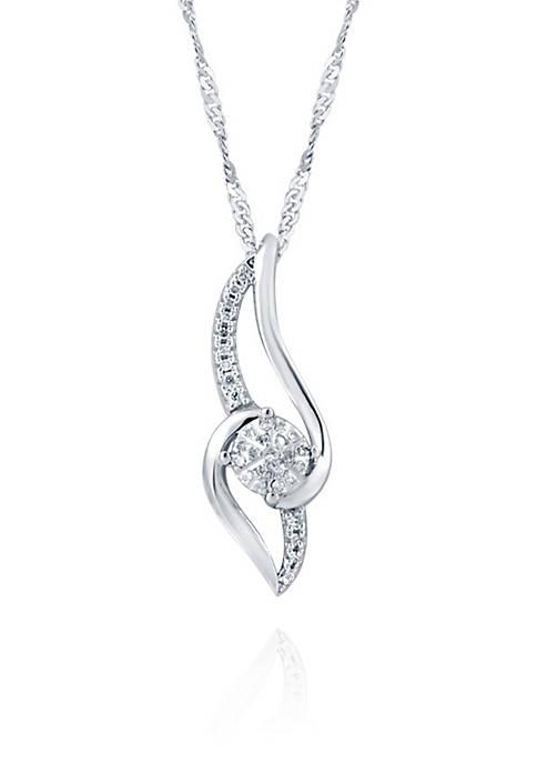 0.11 ct. t.w. Diamond Pendant in Sterling Silver
