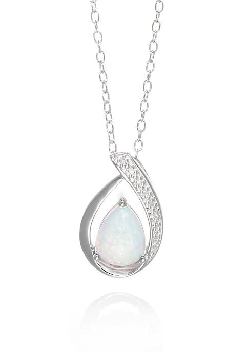 Belk & Co. Opal and Diamond Pendant in