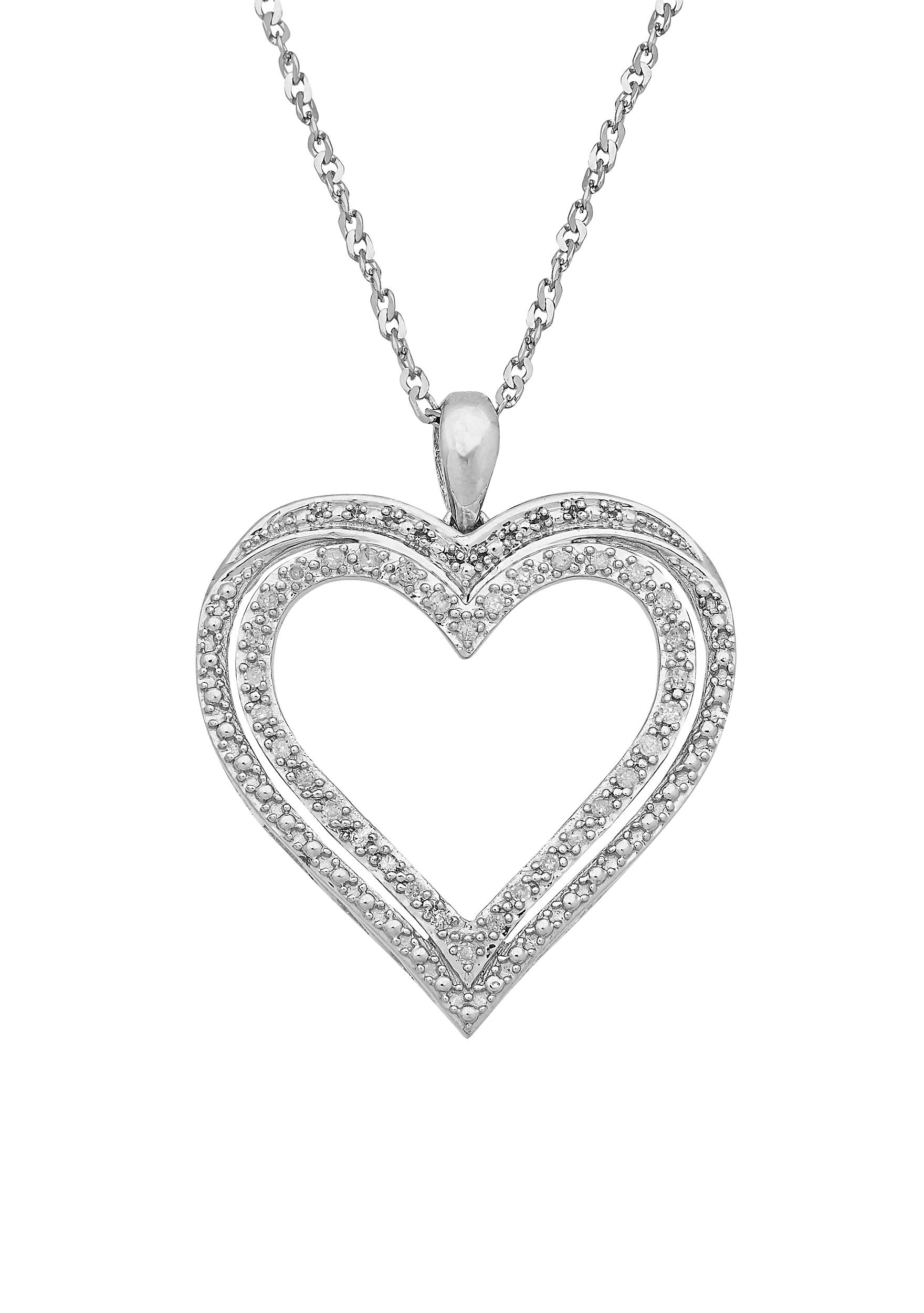 Belk co sterling silver diamond heart pendant necklace belk sterling silver diamond heart pendant necklace 5400453sbx59409c18 images mozeypictures Choice Image