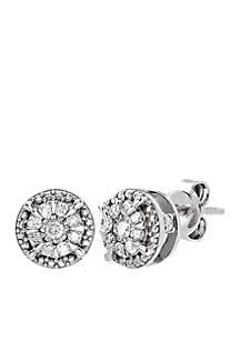 1/4 ct. t.w. Diamond Stud Earrings in Sterling Silver