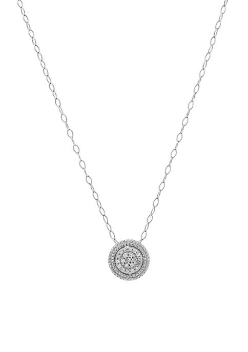 Sterling SIlver 1/10 ct. t.w. Diamond Pendant Necklace