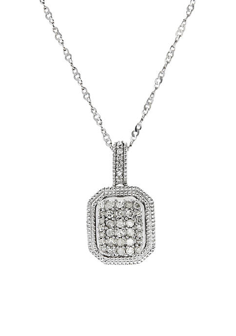 1/4 ct. t.w. Diamond Pendant Necklace in Sterling Silver