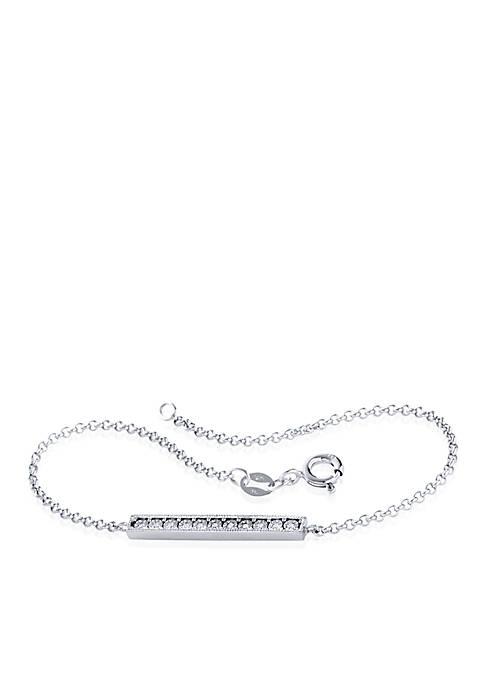 0.04 ct. t.w. Diamond Bracelet in Sterling Silver