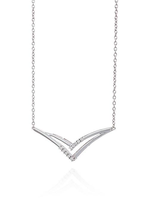 Belk & Co. Diamond Chevron Necklace in Sterling