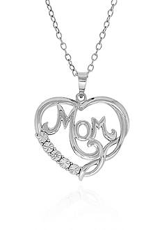 Belk & Co. Diamond Mom Infinity Pendant in Sterling Silver