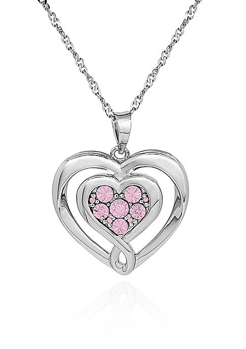 Belk & Co. Pink Diamond Heart Pendant in