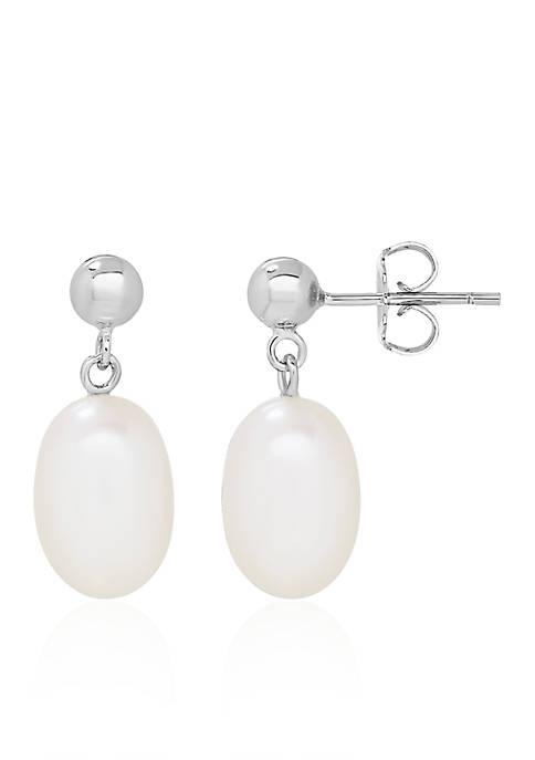 Freshwater Pearl Ball Earrings in Sterling Silver