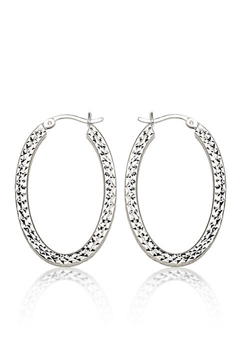 Belk & Co. Caged Hoop Earrings in Sterling
