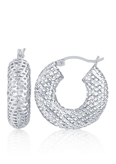 Belk & Co. Hoop Earrings in Sterling Silver