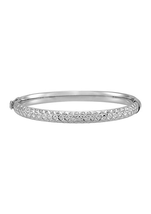 Belk & Co. Sterling Silver Star Bangle Bracelet